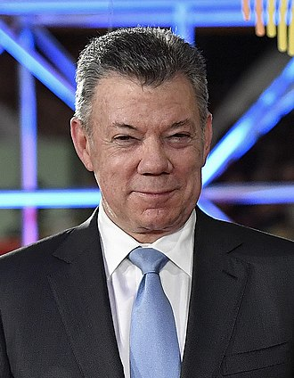 2014 Colombian presidential election - Image: Juan Manuel Santos in 2018