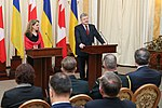 Julie Payette with Petro Poroshenko in Ukraine - 2018 - (1516277010).jpg