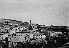 A general view of Jullié, at the beginning of the 20th century