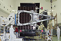 Juno's solar panel with the magnetometer is attached to Juno.jpg