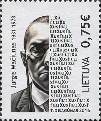 George Maciunas - George Maciunas on a 2016 stamp of Lithuania