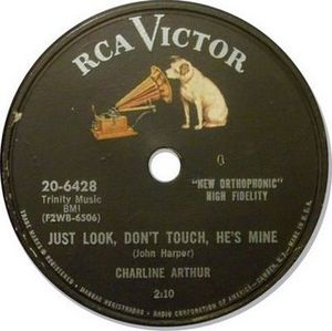 RCA Records - Label of an RCA Victor 78 rpm record from the 1950s; RCA manufactured 78s alongside the 45 until 1958.