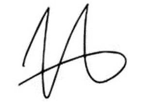 Justin Lester (politician) - Image: Justin Lester Signature