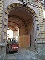 Károlyi Mansion, gateway and Bobcat, 2018 Józsefváros.jpg