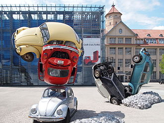 Center for Art and Media Karlsruhe - during exhibition Car Culture in 2011, Car Building by Hans Hollein