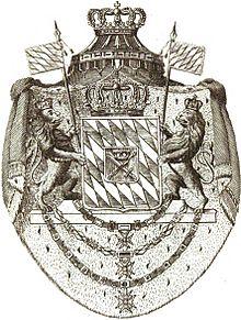 Königreich Bayern Wappen 1809 (Quelle: Wikimedia)