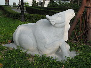 The ox statue is one of the 12 Chinese Zodiac ...