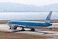 KLM Royal Dutch Airlines ,KL868 ,Boeing 777-306-ER ,PH-BVA ,Departed to Amsterdam ,Kansai Airport (16454401237).jpg