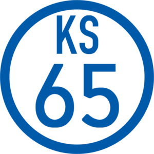 Chiharadai Station - Image: KS 65 station number
