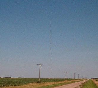 KVLY-TV mast - Image: KVLY Distance