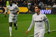 b38c541a5 Kaká celebrating a goal with Real Madrid in a 4–1 home victory over Real  Sociedad on 6 February 2011