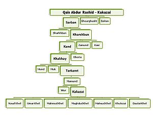Kakazai - Family Tree — From Qais Abdul Rashid to the Kakazai (Loi Mamund) Pashtuns