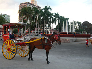 horse-drawn calash used in the Philippines