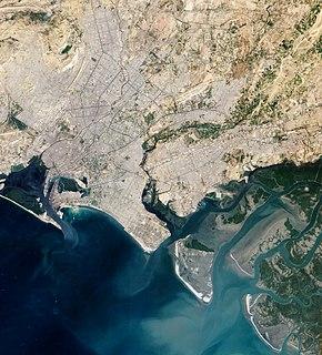 Indus River Delta-Arabian Sea mangroves A large mangrove ecoregion on the Arabian Sea coast of Sindh Province, Pakistan