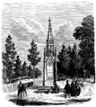 Karl XIIs monument vid Fredrikshald (ur Svenska Familj-Journalen 1867).png