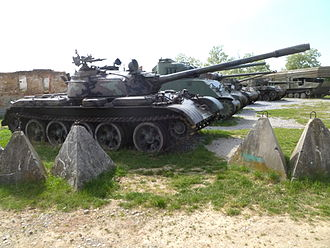 Karlovac - Collection of tanks at the Karlovac museum in Turanj