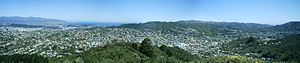 Karori - Karori as seen from Johnsons Hill