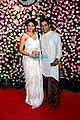 Kavita Kaushik and Ronit Biswas at Kapil and Ginny Sharma's wedding, 2018 (original).jpg