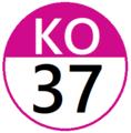 Keio KO37 station number.png