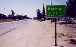 Kerman's eastern city limit at SR-180