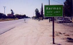 Kerman's eastern city limit at SR-180