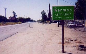 California State Route 180 - Image: Kerman 2006
