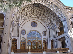 Iwan - Iwan of the Āmeri House in Kashan, Iran