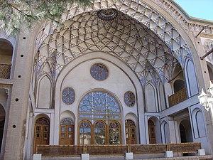 Iwan - Iwan of the Āmeri House in Kashan, Iran