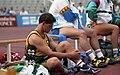 Kieran Modra resting, 1992 Paralympics.jpg