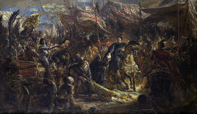an interpretation of jan matejkos sobieski sending message of victory to the pope King john iii sobieski sobieski sending message of victory to the pope, after the battle of vienna 111png 0 references inception 1883 0 references location vatican museums 0 references creator jan matejko 0 references height 458 1 centimetre 0 plwiki jan sobieski pod wiedniem.
