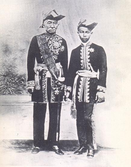 King Mongkut and Prince Chulalongkorn