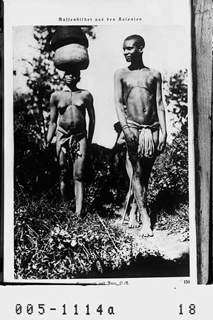 Kinga people - Kinga man and woman from colonial period