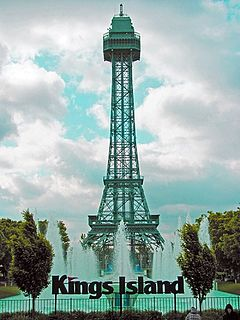 Eiffel Tower (Cedar Fair) Replica in amusement park