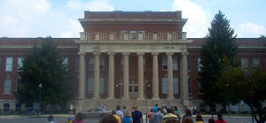 Kirksey Old Main building on the campus of Mid...