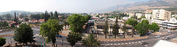 Panorama of central Kiryat Shmona
