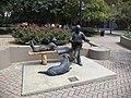 Kleman Plaza Tallahassee Democrat statues.JPG