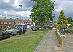 Knollmead One of the tree lined streets on the inter war built Sunray housing development situated between the Waterloo and Chessington railway line and the A3 at Tolworth.