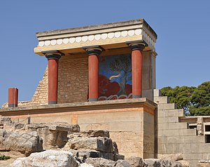 The palace of Knossos (Crete, Greece): part of...