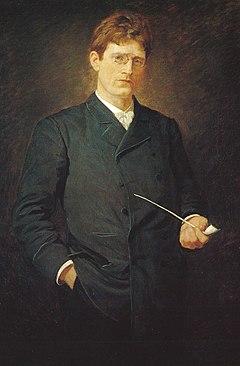 Knut Hamsun painting by Alfredo Andersen (1860-1935).   jpg