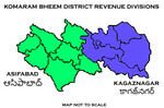 Komaram Bheem District Revenue divisions.png