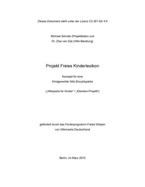 File:Konzept Wikipedia für Kinder - Projekt Freies Kinderlexikon.pdf