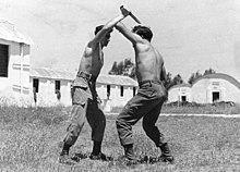 Krav Maga lesson in paratrooper school in Israel, 1955