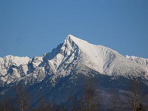 High Tatras - Kriváň (2,495 metres), considered to be the symbol of Slovakia