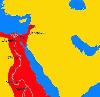 Kingdom of Kush - Maximum extent of Kush in 700 BC