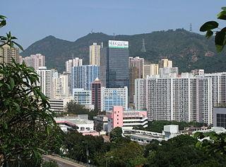 Kwai Chung Area in Hong Kong