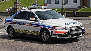 Icelandic Police - Volvo S80 D5 police car