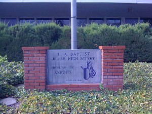 Los Angeles Baptist High School - Senior class gift from the class of 1990.