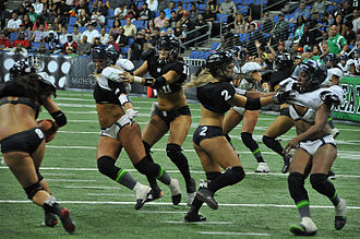 Legends Football League - Los Angeles Temptation vs Seattle Mist in Action in Los Angeles – May 4, 2013