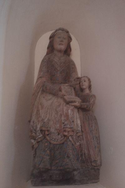 Groupe sculpté dans l'Église de La Feuillie, XVIes