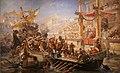 La naumaquia (combate naval entre romanos) (Ulpiano Checa.jpg